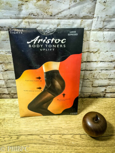 Aristoc Body Toners Uplift Large Espresso Lycra Vintage Opaque Tights Stockings