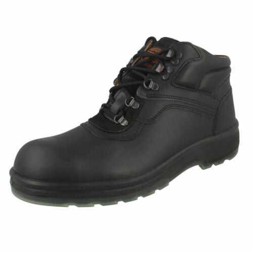 R13A Totector 1009 Mens Black Safety Boot With Steel Toe Cap