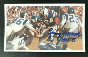 LENNY MOORE NFL HOF Indianapolis Colts Auto Autographed Signed 3x5 Index Card 2