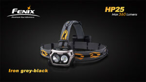 Fenix HP25 Headlamp - Iron Grey - 360-Lumens 4xAA Batteries (Not included)