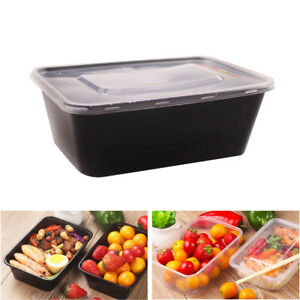 10pcs Disposable Plastic Fast Food Storage Lunch Meal Prep Fruit