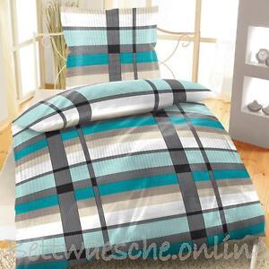 seersucker baumwolle bettw sche 2tlg 4tlg 135x200 cm kariert streifen klassisch ebay. Black Bedroom Furniture Sets. Home Design Ideas