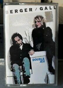 "BERGER / GALL ""Double Jeu"" - K7 / Cassette Audio / Tape. 1992"