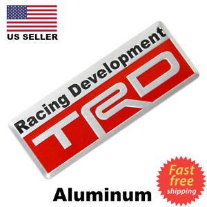 3D Metal TRD Emblem Sticker Decal Toyota Racing Development Tailgate Badge