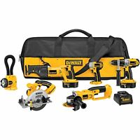 Dewalt Set Impact Driver Cordless Tool Combo Kit 18v Saw Power Floodlight