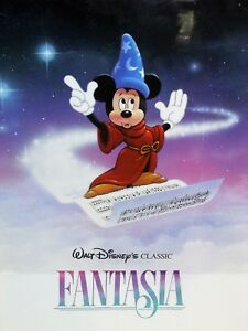 Disney Fantasia Poster Featuring Mickey Mouse Ebay