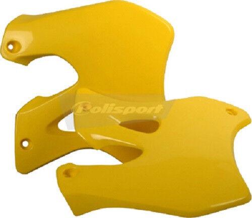 Polisport Radiator Shrouds Scoops Pair Yellow Suzuki RM125 RM250 1996-1998