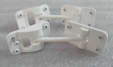 "2 RV Trailer 3 1/2"" White Entry Door Catch Holder Hook Latch T Style Screws SALE"