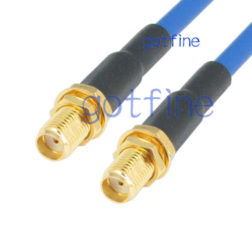 SMA female to SMA female jack RF lot RG402 3G 4G Semi Flexible blue jumper Cable