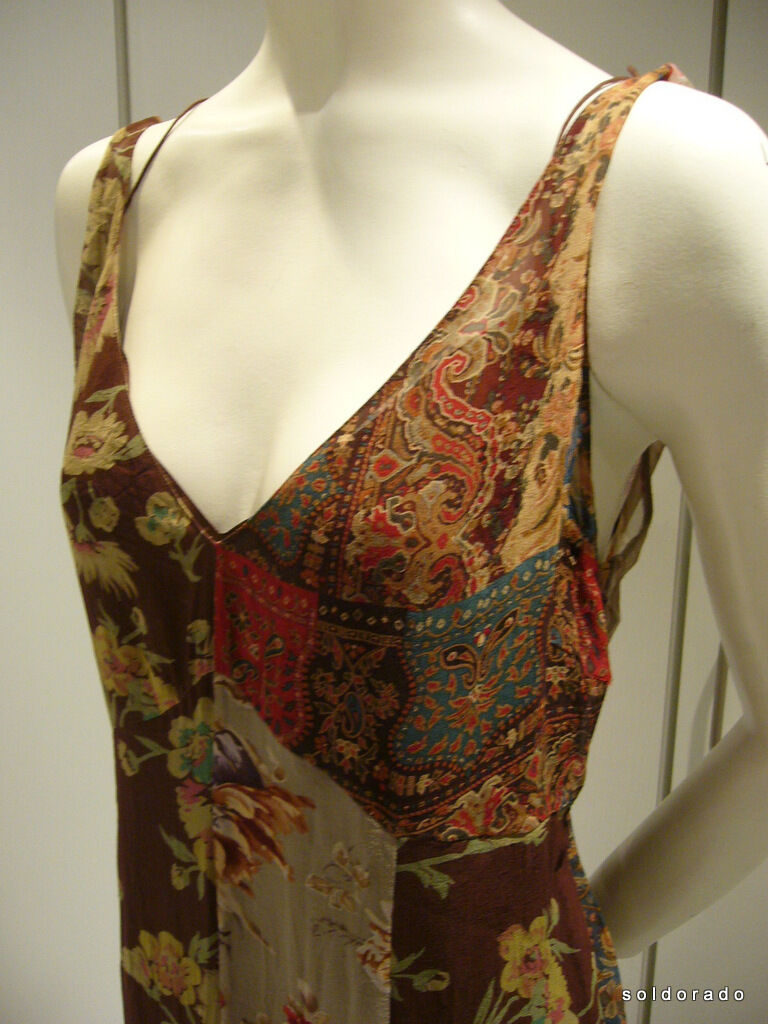 Ralph Lauren Vestito di Seta Witley Floreale Floreale Floreale Viola Gr.4   EU34 36 Eu 750,00 083655