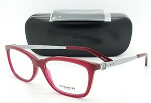 dc458a0a00b4 NEW Coach Eye Glasses Frame Rx HC6114 5503 53mm Dark Red Silver ...