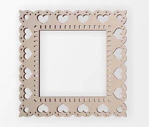 Wooden Heart Border Frame - Wooden Cut Out, Wall Art, Home Decor, Wall Hanging