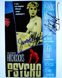 Psycho-Hand-Signed-Autographs-Janet-Leigh-Anthony-Perkins-Photo-Poster-Promo-COA