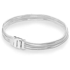 Détails sur Bracelet PANDORA Reflexion Multifils 597943 Argent Bracelet  Neuf Argent