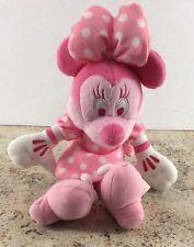 "Pink Minnie Mouse Stuffed Animal Disney Plush 12"" All Pink"