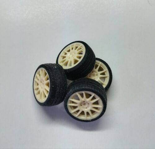 4 pneumatici 1//18 Rally Norev Ottomobile Set 4 Cerchi wheels Peugeot 106