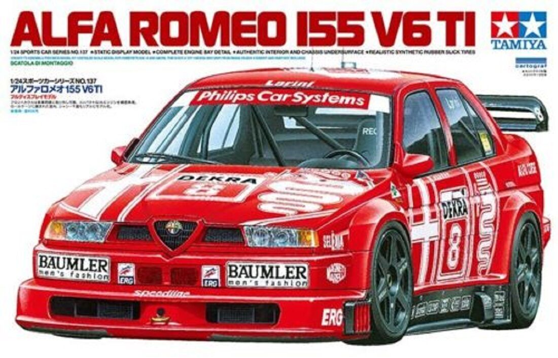 TAMIYA ALFA ROMEO 155 V6 TI  SCALA 1 24 COD.24137
