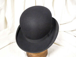 Details about Vintage Stetson Classic Black  Feather Weight  Bowler Hat 7  1 8 Excellent! 6fb67cf21dd