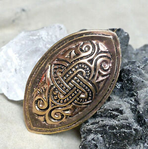 toll Wikinger Ovalfibel Fibel Knoten Motiv Bronze Schürzenfibel Schildkrötfibel