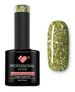 419-VB-Line-Light-Green-Silver-Glitter-UV-LED-soak-off-gel-nail-polish