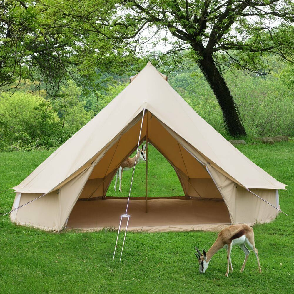 4M Luxury Yurt Bell Tent Double Door Waterproof Glamping Camping  Outdoor Tents  cheapest price