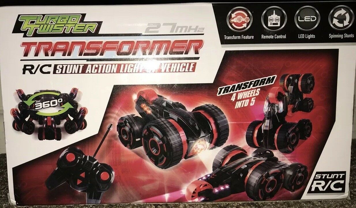 Light-Up Transformer RC RC RC Stunt Car Mindscope Turbo Remote Control Vehicle Toy Red 53c2ab