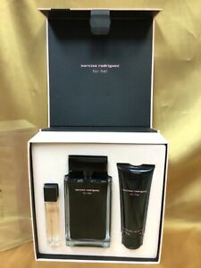 Narciso Rodriguez For Her Eau De Toilette 3 piece Gift Set For Women New In Box!