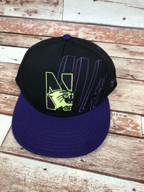 the latest 1f7ec 8cdb1 ... release date northwestern university wildcats purple flat bill snapback  baseball hat cap nwt 6a529 87b9e