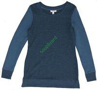 Maternity Liz Lange Long-sleeve Leisure Top Women's Blue Xs S M L Xl Xxl
