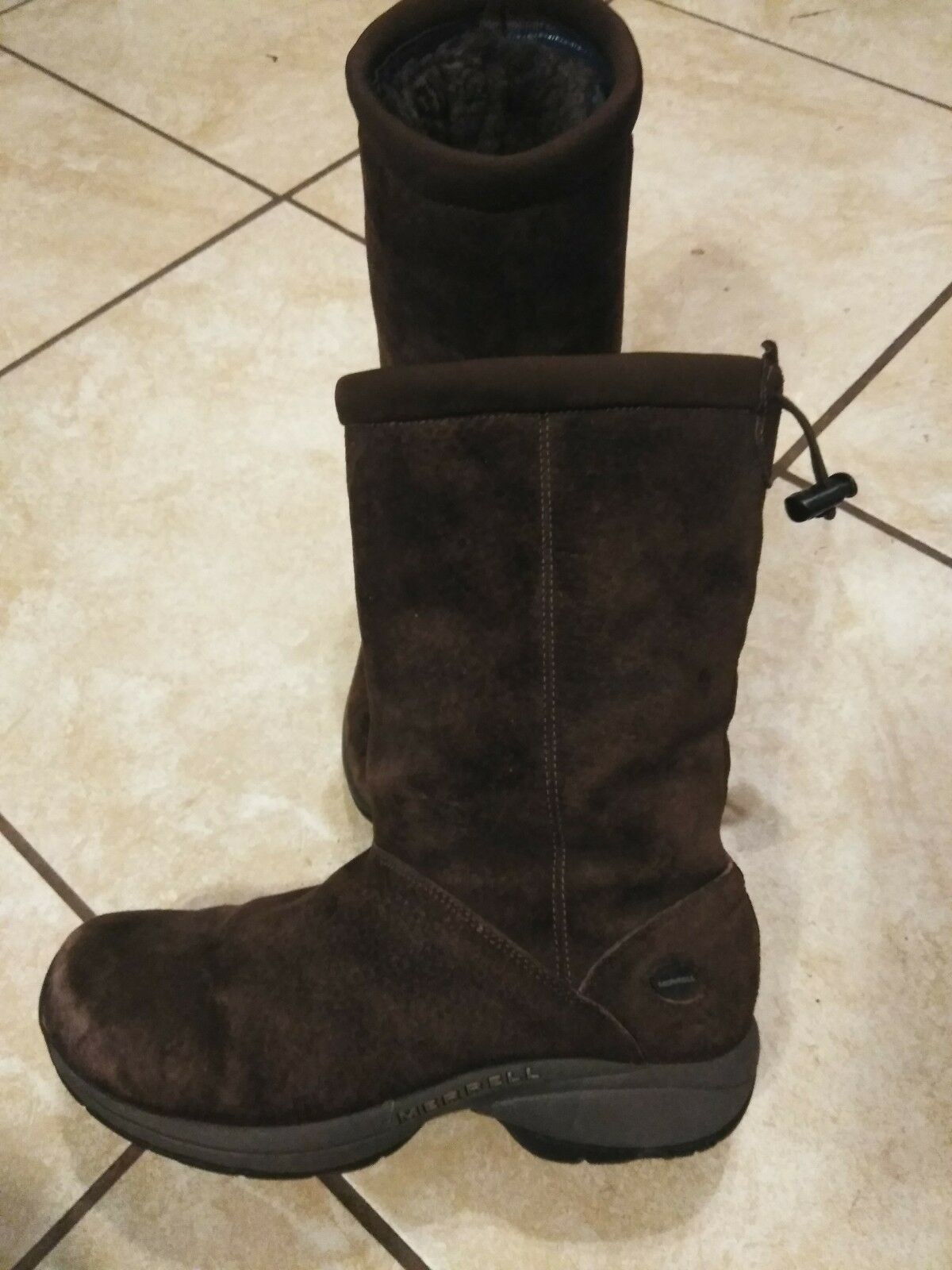 Damenschuhe MERRELL PRIMO CHILL MASSIF CHOCOLATE Leder BROWN Boot 7.5 BROWN Leder Lined 9166d5
