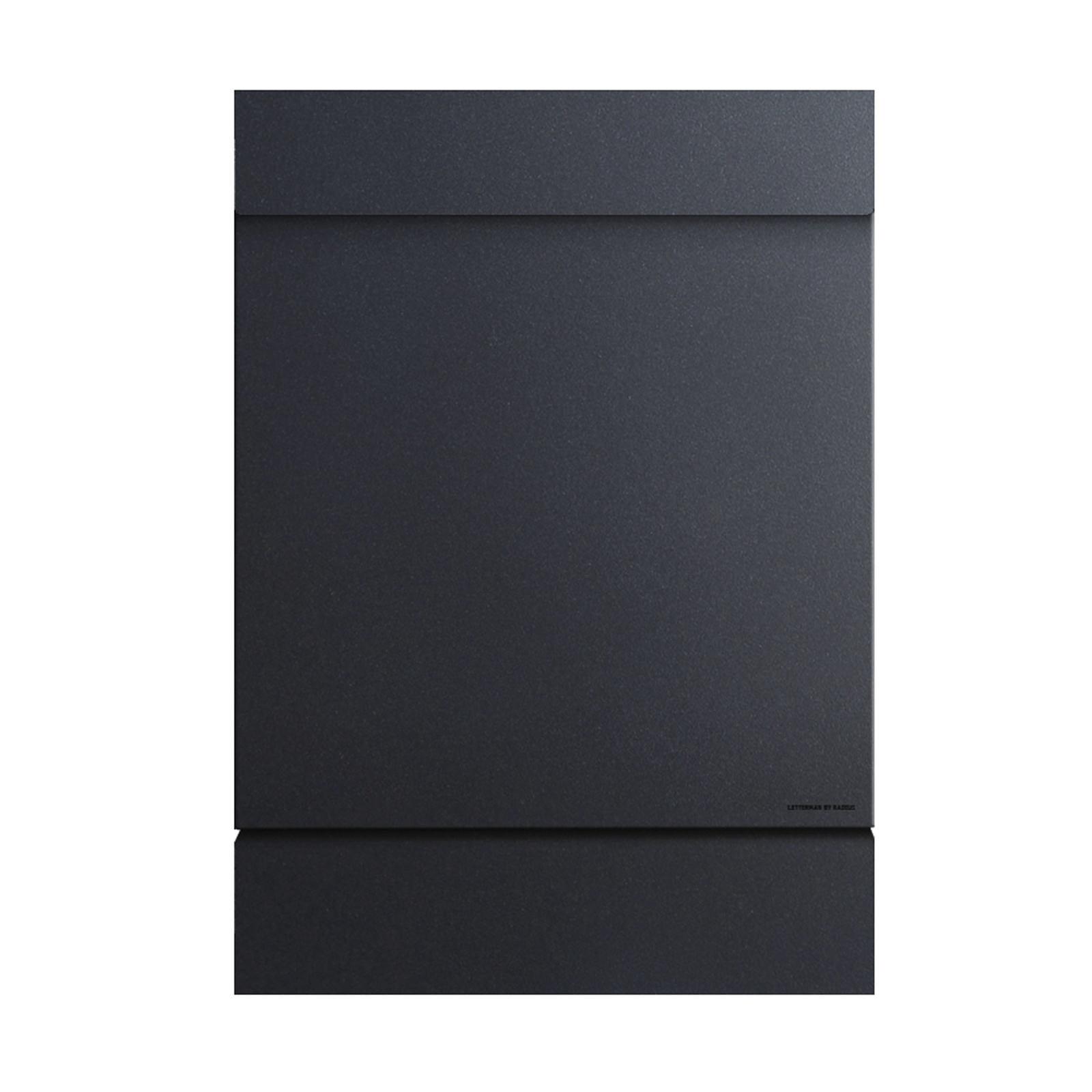 Radius Letterman M Briefkasten mit Zeitungsfach schwarz schwarz 30,5 x 11,5 cm,