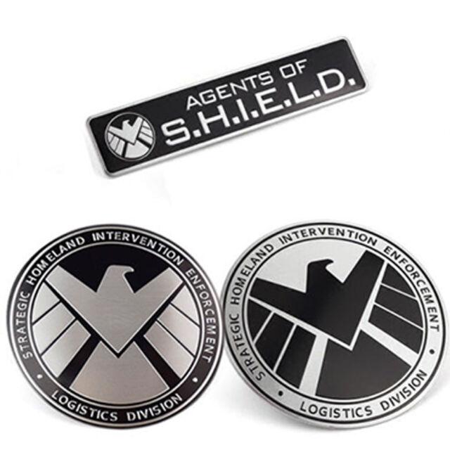 Avengers Marvel Agents Of Shield 3d Chrome Metal Car Sticker Badge
