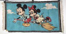 Vintage Mickey Mouse Rug - Mickey and Minnie on a Broom - Walt Disney 40x21