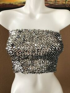 VICTORIA-S-SECRET-PINK-BLING-SEQUIN-TUBE-TOP-LARGE-SIZE