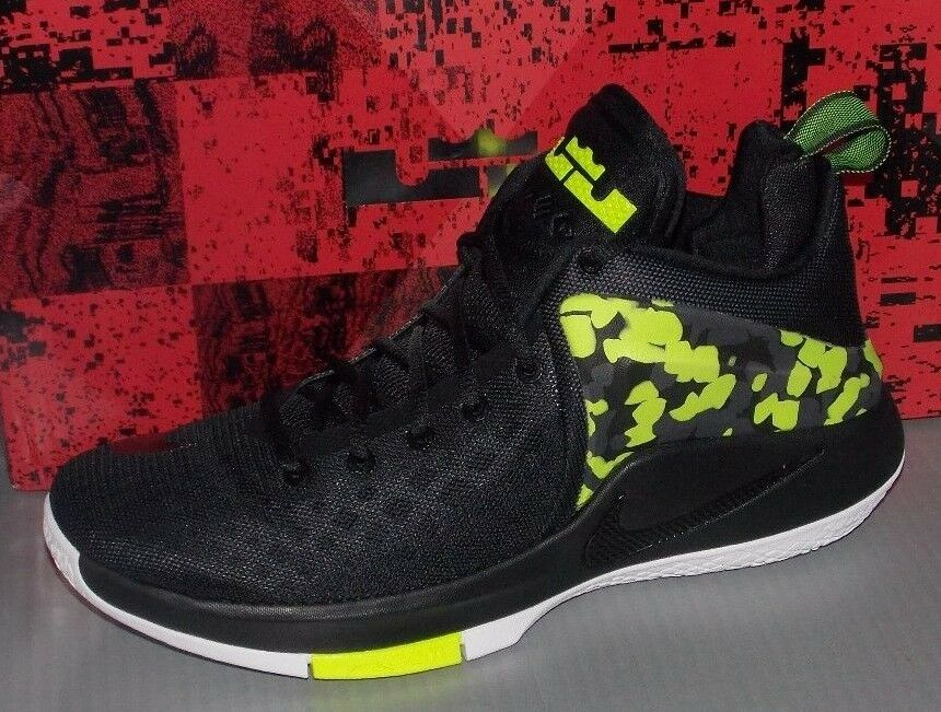 MENS NIKE LEBRON ZOOM WITNESS BLACK / VOLT / WHITE / ANTHRACITE SIZE 12
