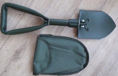 MFH kompakter Camping Klappspaten Mini Spaten auch als Hacke verwend Nylontasche