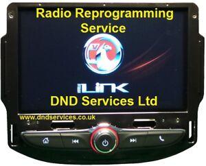 Details about Vauxhall Radio Divorce Decode Code VIN Programming Service  LC7F Intellilink R4