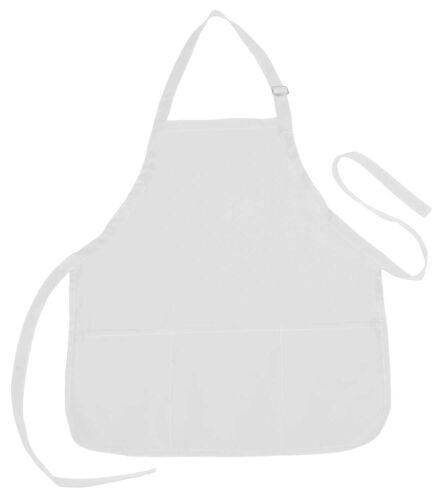 3 Pack Kitchen Poly-Cotton Home Commerical Restuarant Apron w// 3 Pockets