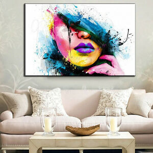 HUGE-MODERN-ABSTRACT-WALL-DECOR-ART-OIL-PAINTING-ON-CANVAS-no-frame