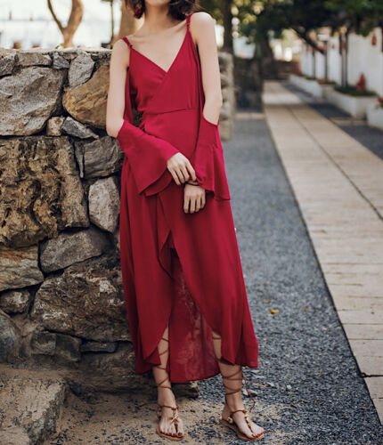 Robe asymᄄᆭtrique asymᄄᆭtrique longue femme 110364 P UVpzqSMG
