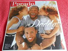 PARADE MAGAZINE JUNE 2014 NFL GREAT MICHAEL STRAHAN WITH KIDS ON FATHER'S DAY