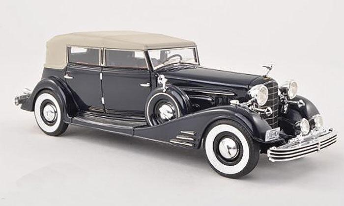 Wonderful modelcar Cadillac Fleetwood Allweather Phaeton 1933 - darkbluee - - - 1 43 f9419f