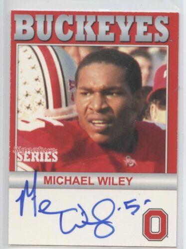 MICHAEL WILEY AUTOGRAPH TK LEGACY OHIO STATE BUCKEYES AUTO B113