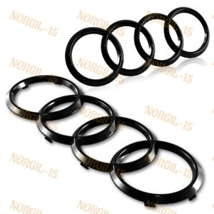 Audi Glossy Black Grill Front Rear A1 A3 A4 S4 A5 S5 A6 S6 SQ7 Badge Emblem Set