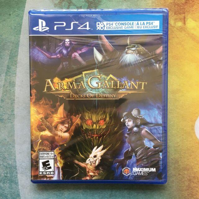 Arma Gallant: Decks of Destiny - Sony PlayStation 4 PS4 - NIB - Free Shipping!
