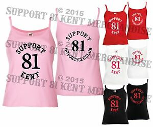 SUPPORT-81-KENT-HELLS-ANGELS-ENGLAND-Ladies-Womens-Strappy-Camisole-Vest-Top