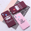 thumbnail 3 - King and Queen Crown case cover for Xiaomi Mi Redmi Note 5 6 7 8 9 lite Pro Plus