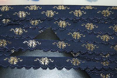 Webband Bordüre Borte Weihnachten Glitzersterne weiß Lurex 15 mm