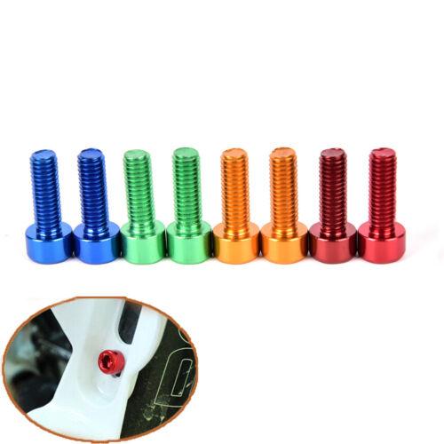 2Pcs Bike Water Bottle Cage Bolts M5*15MM Aluminium Alloy Hex Tapping Screws /_kz