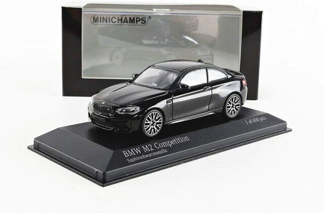 BMW M2 COMPETITION F22 2019 SAPHIR BLACK METAL MINICHAMPS 410026201 1/43 2ER
